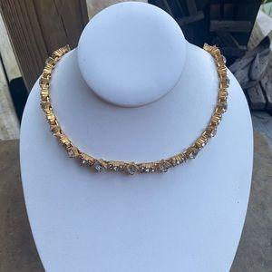 Vintage Chunky MONET rhinestone Necklace